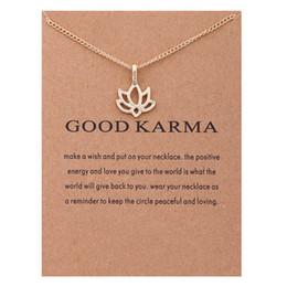 Joyeux bijoux en Ligne-Mode NO Dogeared LOGO Nouveau Or-couleur Bijoux De Mode Bon Karma Heureux Lotus Choker Collier Bijoux Cadeau Whosales