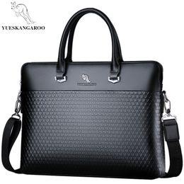 2019 нейлоновая кожаный портфель YUESKANGAROO  Leather Men Bags Business Briefcase 2018 New Handbag Male Crossbody Shoulder Bags