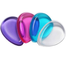 belleza mezclador colores Rebajas Venta caliente Maquillaje de Silicona Claro Puff 4 colores Forma de Gota de Agua Jalea Cosmética Puff Herramienta de Maquillaje envío gratis