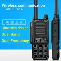 Wholesale Dual Band Walkie - Wholesale-New Baofeng UV B2 UV-6RA Walkie Talkie 5-10W High Power Handheld Ham Two Way Radio VHF UHF UV Dual Band Transceiver For Hunting