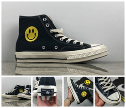 eff50e9bacab 2018 new Chinatown Market Converse All Stars Shoes Chuck 1970S Canvas Women  Men designer Smile Face casual running Casual Sneakers 35-44