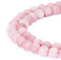 rosenquarzperlen 8mm Rabatt 4mm 6mm 8mm 10mm 12mm naturstein perlen Runde Wunderschöne Matte Rose rosa Quarz lose Perlen Für DIY Schmuck machen armband