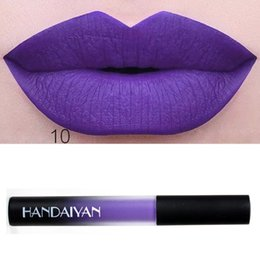 Темно-фиолетовый макияж губной помады онлайн-Drop Ship Fashion Waterproof Long Lasting Liquid Dark Purple Velvet Mae Lipstick  Lip Gloss Lip Cosmetic Tool 1PC Apr 24