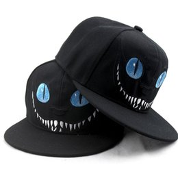 wholesale men cartoon chapeau women character bone male novelty baseball  cap female black brim straight snapback new 199f14da877a