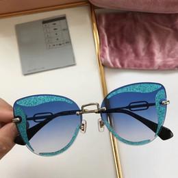 7047c5269f 2018 AW Elegant Luxury Sunglasses For Women Square Rimless Diamond cutting  Lens Brand Designer Fashion Shades Sun Glasses Cateye M071 Eyegla