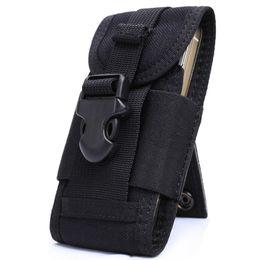 funda para celular táctica molle Rebajas OneTigris MOLLE Tactical teléfono celular teléfono inteligente bolsa iPhone 4 5 SE Samsung HTC Nylon teléfono móvil bolsa