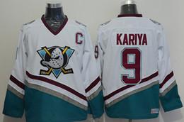 fd1a61110 Custom Vintage Anaheim Mighty Ducks Hockey Jerseys 8 Teemu Selanne 9 Paul  Kariya 35 Jean-Sebastien Giguere 13 Selanne 1998 CCM Jersey