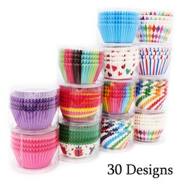 Wholesale Paper Cake Tray - 100Pcs Rainbow Colorful Cupcake Paper Liners Greaseproof Muffin Case Cup Cake Topper Baking Tray Kitchen Accessories Pastry Decoration Tools