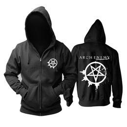 giacca da kinder Sconti 23 tipi Svezia Arch Enemy Rock Zipper con cappuccio giacca invernale punk death sudadera heavy metal felpa nera tuta sportiva felpa