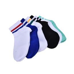 Длинные носки онлайн-Wholesale- Classic Long Two Striped Socks Old School of High Quality Cotton for Women Men Skate socks