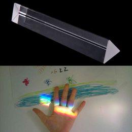 оптические призмы Скидка Оптическое стекло тройной треугольной призмы преподавания физики свет спектр размер: 200mmx30mmx30mm
