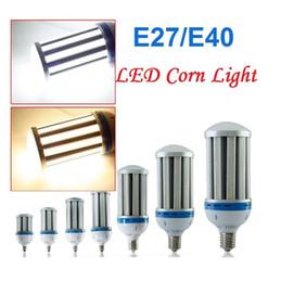 Светодиодные лампы высокого уровня e27 онлайн-Высокий свет залива E27 B22 E40 Shoebox Модернизация Led Corn Light 24 Вт 36 Вт 50 Вт 60 Вт 100 Вт 120 Вт Подвесные светильники Школьный магазин Освещение склада