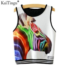 2019 vintage halter top blau KaiTingu 2017 Brand New Fashion Frauen Sleeveless Zebra-druck Crop Top Casual Top Frauen Cropped Tops Weste Tank Tops