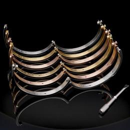 paar armband set silber Rabatt 2019 neue titanium stahl liebe armbänder silber rose gold armreifen frauen männer schraube schraubendreher armband paar ohne original box set