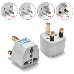 2019 chargeur 4.5v 100pcs US EU AU Pour UK Plug Adapter américaine européenne Euro British 3 Pin Adaptateur Voyage Convertisseur Prise électrique de sortie