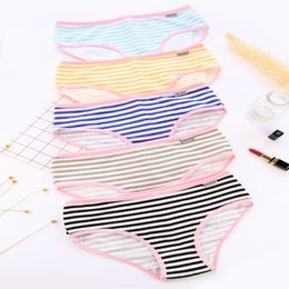 d436586fa0 blue green striped briefs Canada - Plus Size Women Underwear Panties Ladies  Seamless y Briefs Calcinhas