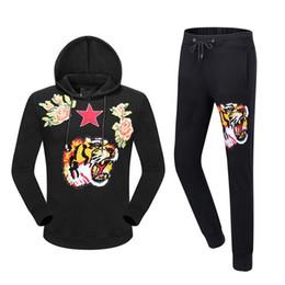 Wholesale Men Garter Belts - 2017 brand men suit Spring And Autumn New Pattern Long Sleeve Suit Male Fashion Tiger Picture luxury men suit
