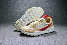 Wholesale Vintage Running Shoes - Tom Sachs x Craft Mars TS NASA Running Shoes AA2261-100 Natural Sport Red Designer Zapatillas Vintage Tom Sachs x Craft Mars Yard 2.0 Shoes
