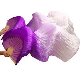 Abanico de seda hecho a mano de alta calidad de danza del vientre Velos colores degradado blanco púrpura desde fabricantes