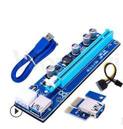 Wholesale Express S - MIX order PCI-E Ver 006 006C 008C Ver006C Ver008C Express Riser Card 1x to 16x USB 3.0 Data Cable SATA 15Pin-6Pin For BTC Bitcoin Miner