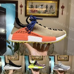 Wholesale Womens Athletic Shoes Cheap - Speed Trainer Running Shoes NMD Human Race Pharrell Williams Hu trail NERD Men Womens Running Shoes NMD Girls Cheap Best Tennis Athletic