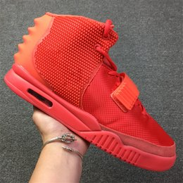 Wholesale High Quality Canvas Bag Men - Air 2 SP Red October Basketball Shoes 508214-660 Kanye West With Dust Bag And Box Men 2018 High Quality 7-13 Athletics Sneakers
