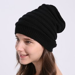 womens crochet beanie Coupons - 2018 Beanie Hat Women Crochet Knit Cap Winter Skullies Beanies Warm Caps Female Knitted Stylish Hats Womens Winter Hats And Caps
