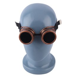 Wholesale steampunk cyber goggles - Vintage Steampunk Cyber Goggles Glasses Welding Punk Gothic Sunglasses Stylish Retro Sunwear Steampunk Cyber Goggles Glasses