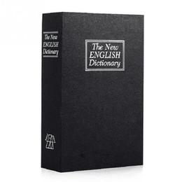 versteckte schlösser Rabatt 7 * 4,5 * 2,1 in Neuheit Design Wörterbuch Geformte Aufbewahrungsbox Booksafe Key Lock Safe Geheimnis Versteckte Cash Sicherheit Stash Aufbewahrungsbox
