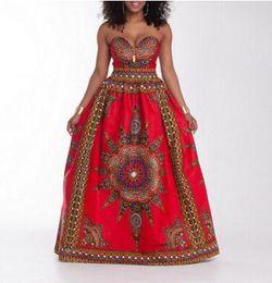 Traditionnel Africain Imprimer Dashiki Taille Haute Ankara Floral Long Jupe Une Ligne Hippie Indien Style Motif Asymétrique Longueur de Plancher Jupes ? partir de fabricateur
