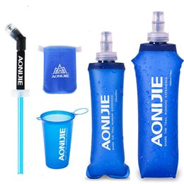 Wholesale Survival Backpacks - AONIJIE 170ml 200ml 250ml 500ml Outdoor sports water bottle survival drinking bag camelback hydration backpack water bag bottle