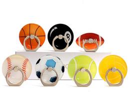 Wholesale Acrylic Mobile - Ring buckle mobile phone holder Gift holder Creative basketball Football Tennis Acrylic lazy bracket
