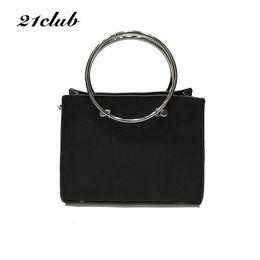 Wholesale Composite Metals - 21club brand women metal ring small composite bag mini totes handbag hotsale lady purse clutch messenger crossbody shoulder