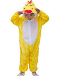 Nuevo estilo del 2018 niños Cosplay Pato amarillo Abeja amarilla Adecuado para niños y niñas Traje de escenario Estilo largo bailando vestimenta desde fabricantes