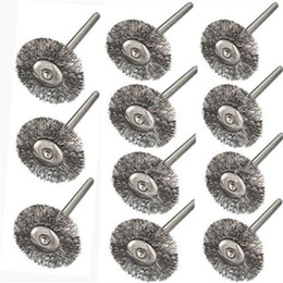 dremel tool accessories Coupons - 10pcs Steel Wire Wheel Brushes Cup Rust Dremel Accessories Rotary Tool Dremel Electric Tool for the engraver abrasive materials