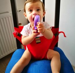 2019 mesa em forma de u 60 pcs Assentos Do Saco Do Bebê Envoltório Do estiramento Do bebê cinto de segurança arnês portador de bebê portátil para Jantar Comer Alimentação Tampa de Assento Harness Cinto de segurança