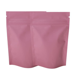 """Wholesale ups power metal - 8.5x13cm (3.25x5"""") Matte Pink color ziplock packaging bag mylar aluminum foil stand up pouch for food power Party Storage Bag"""