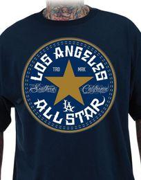 Wholesale california fashion men - DYSE ONE CLOTHING ALL STAR California T - Shirt Tee Navy Blue Blue