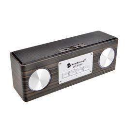 Wholesale Audio Vibration - 2018 new popular wooden square speaker altavoz bluetooth woofer vibration TF wood square Dual speakers portable handsfree call caixa de som