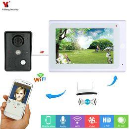 intercomunicador androide Rebajas YobangSecurity Video Intercom 7 Pulgadas Monitor Wifi Wireless Video Door Doorbell Intercomunicador Sistema de Cámara Android Aplicación IOS