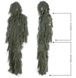 vêtements en tissu multifonction Promotion Chasse Ghillie Suit Set 3D Camo Feuille Bionic Camouflage Jungle Woodland Poncho Manteau Durable Chasse Poncho PO06