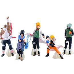 Wholesale Naruto Uzumaki Action Figures - 32 Generation Naruto Action Figures Toys 5 pieces lot 12cm Uzumaki Uchiha Sasuke Hatake Kakashi Namikaze PVC Action Figure Toys KKA4772