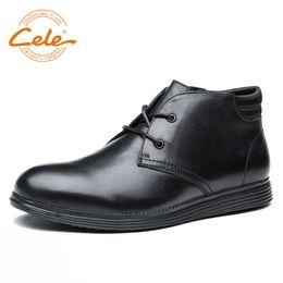 Британская мягкая повседневная обувь онлайн-CELE  Hot Sale Men Shoes Genuine Leather Men Casual Shoes Business Boots British Style Lightweight And Soft Footwear