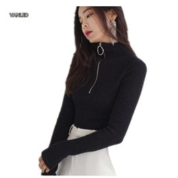 Canada Harajuku Vintage Circle Ring T-shirt à manches longues à col roulé à glissière Pullover 121116 cheap ring sleeves Offre