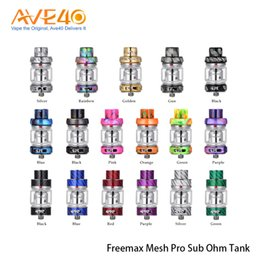 Argentina Freemax Mesh Pro Subohm Tank Atomizer 5ml Doble Triple Mesh Coil Sub Ohm Tank con Extra 6ml Tubo de vidrio 100% Original cheap double atomizer tanks Suministro