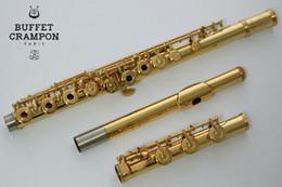 flautas de oro Rebajas Nuevo Buffet SERIRSII Marca Flauta 17 hoyos C Tono abierto chapado en oro Flauta Cupronickel Instrumentos musicales con estuche de limpieza