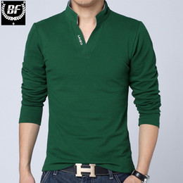 BF Erkekler Katı Pamuk T-shirt Uzun Kollu Kas Slim Fit V Boyun T Shirt Mektup LAISO Baskı Srping Sonbahar En Tees Artı Boyutu nereden