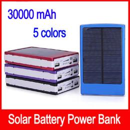 2019 carregador de telefone de alta capacidade Carregador portátil de bateria solar 30000 mah LED Escurecimento banco de energia solar portátil banco de energia solar SOS ajuda para Tablet Telefone Móvel MP4