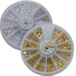 Canada Art strass décorations 1wheels 3d ongles Art strass or argent 12 de conceptions décorations métalliques goujons bijoux pour conseils Bouts perles ... Offre