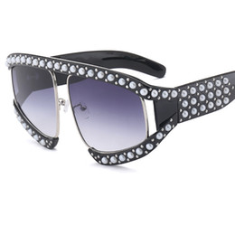 Wholesale Pearl Shade - Newest Pearl Frame Goggle Sunglasses For Women Men G Square Brand Glasses Designer Fashion Male Female Shades Y260